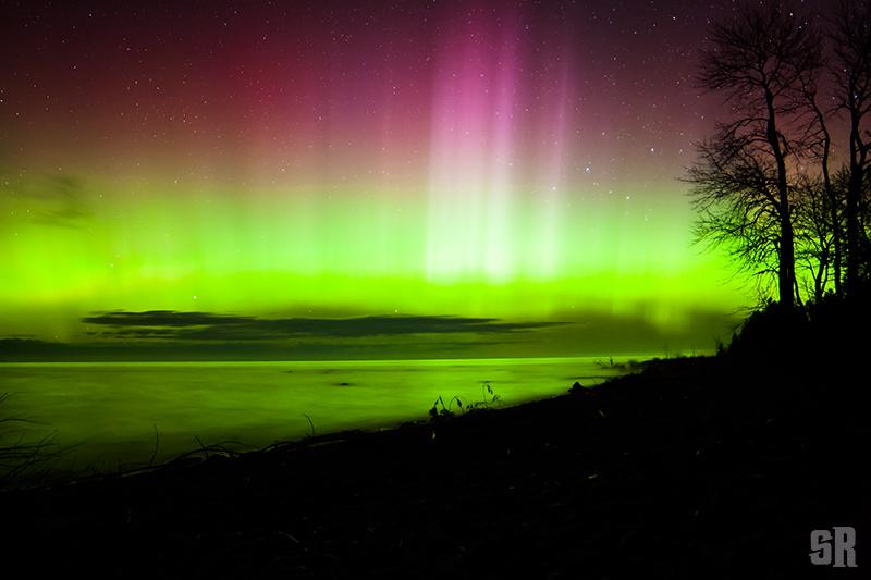 Photo of Northern Lights over Lake Huron in Southampton near Bruce Peninsula Ontario