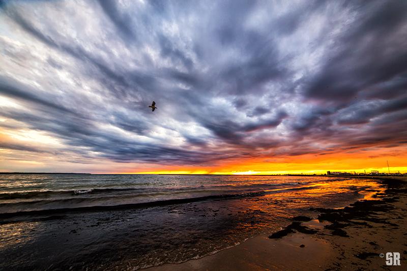 Dramatic Sunset over Port Elgin Beach Ontario Fine Art Print