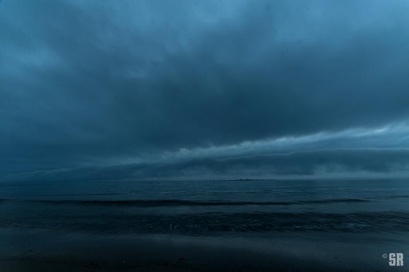 Storm Shelf Cloud over Chantry Island on Lake Huron