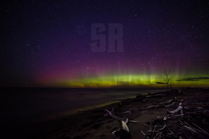 Fate - Northern Lights over Lake Huron