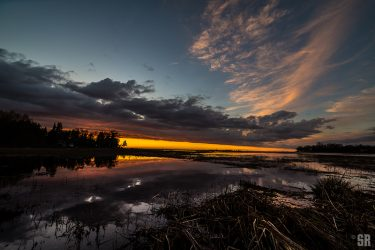 Sunset over Chantry Island Lake Huron Ontario