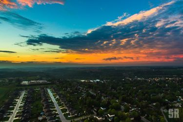 West of Walkerton Drone Aerial Sunset Photo Art