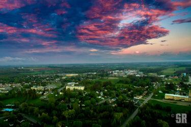 Aerial Art Photo Print of View over Walkerton, Ontario
