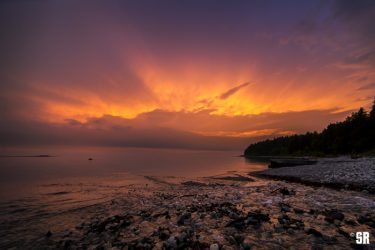 Port Elgin Beach Sunset on Lake Huron Landscape Fine Art Wall Print