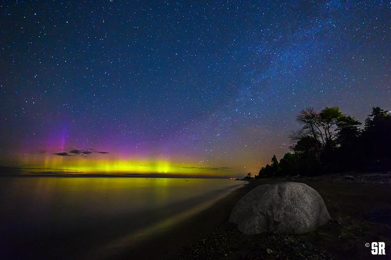 Northern Lights over Lake Huron & Sauble Beach Ontario Canada