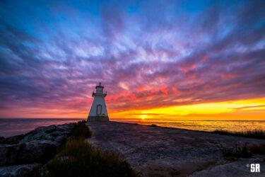 Range Lighthouse Sunset Southampton Ontario on Lake Huron