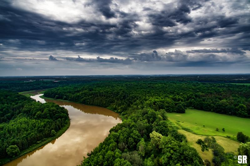 Summer Aerial Drone Capture of Saugeen River Wall Fine Art Print