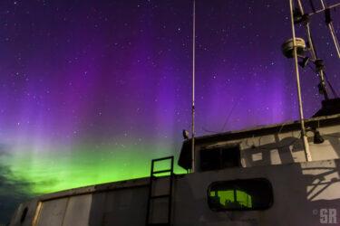 Garys Dream - Northern Lights of Fishing Boat Gary M. in Southampton Ontario
