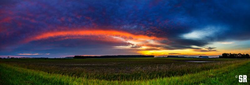 bruce county ontario rural sunrise illuminating shelf cloud landscape wall art print