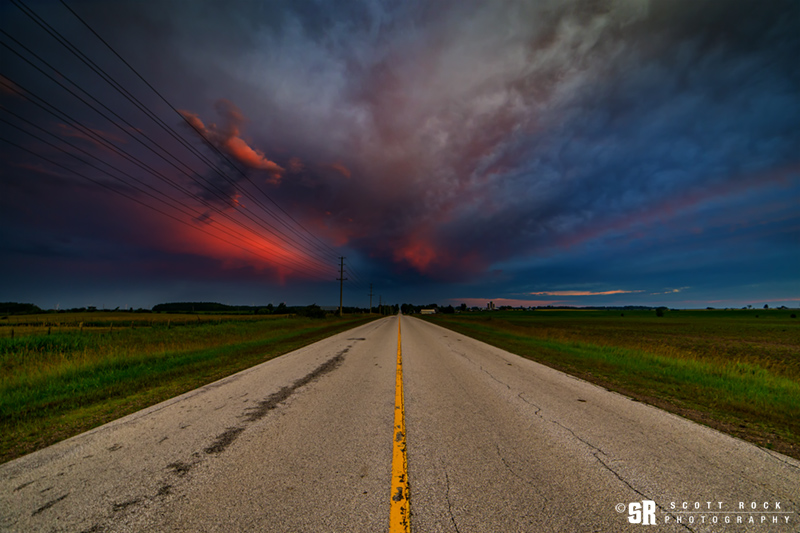 stormy sunrise in rural bruce county ontario fine art wall print
