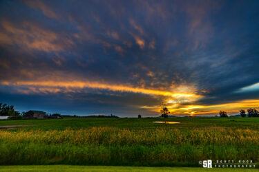 A slice of heaven rural bruce county ontario sunrise fine art wall art