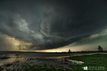 Storm over Lake Huron in Oliphant Ontario on Bruce Peninsula Fine Art Wall Print