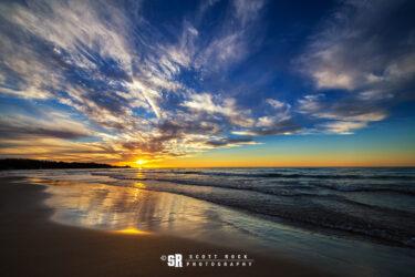 Shutter to Think - Sunset over Lake Huron Near Port Elgin Ontario