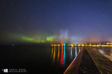 Port Elgin Harbour Northern Lights