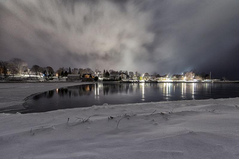Lake Huron Snow Squall