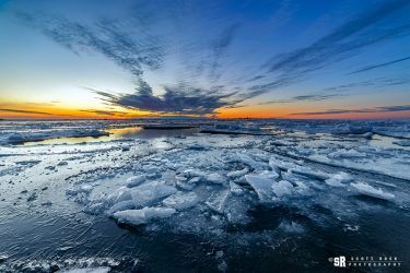 Winter Lake Huron Landscape Near Bruce Peninsula