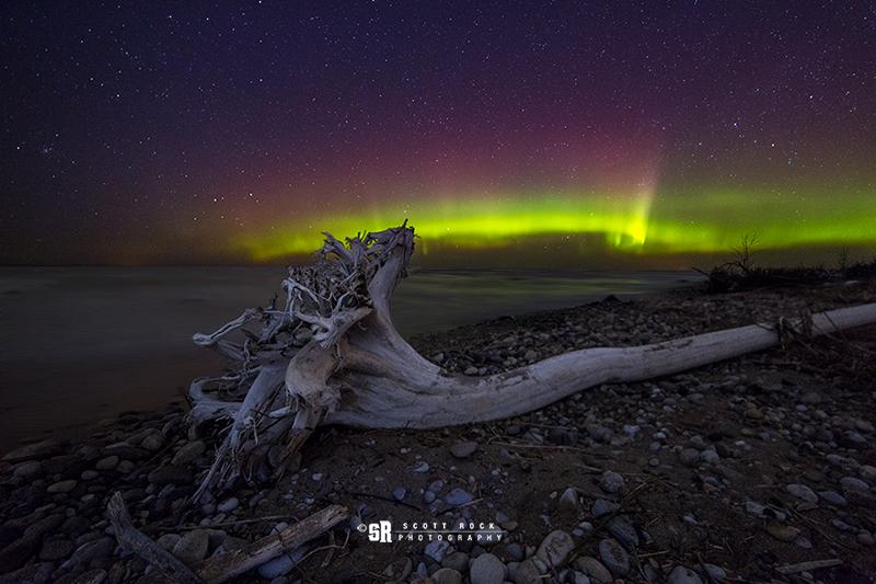 Southampton Ontario Aurora Borealis Night Sky Photo