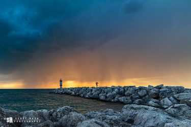 Rain Storm Port Elgin Harbour Photo
