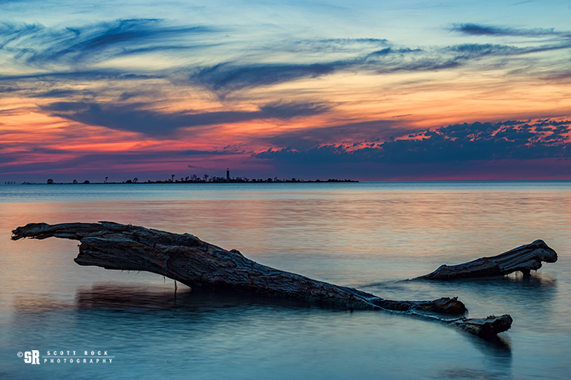 Chantry Island Sunset Photo on Lake Huron