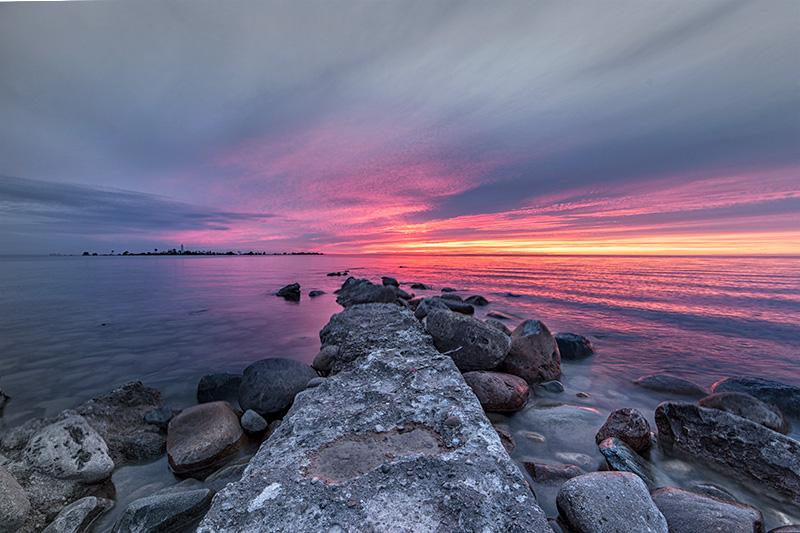 Sunset over Long Dock Near Chantry Island