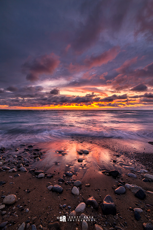Sunset Photo in Saugeen Shores Beach on Lake Huron