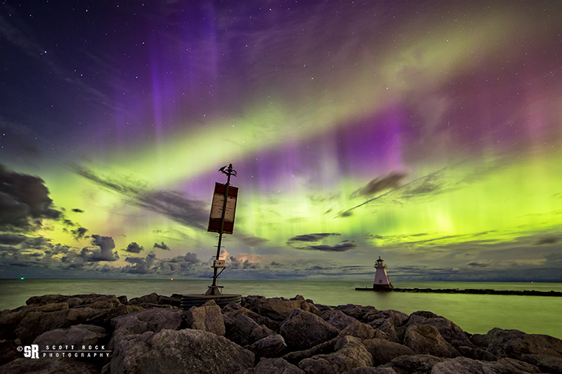 Rare Double Band Northern Lights in Southampton, Ontario