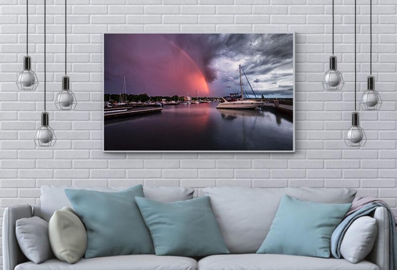 Port Elgin Harbour PEYC Rainbow Wall Art Interior