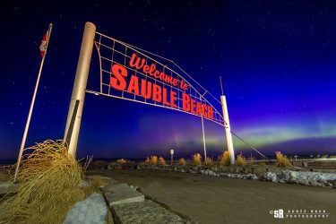Sauble Sign Northern Lights
