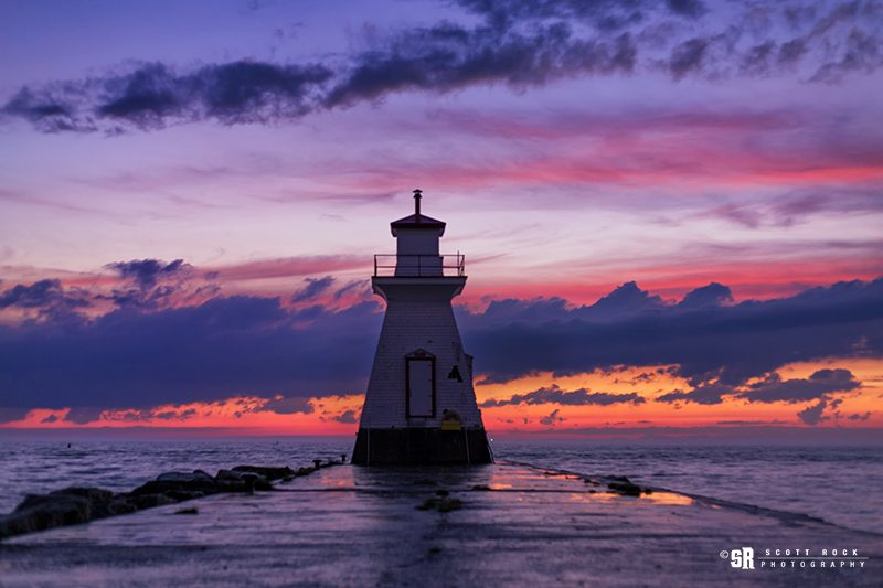 Sunset in Southampton, Ontario near the Bruce Peninsula