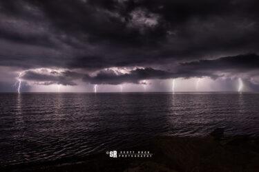 AC/DC Lake Huron Lightning Storm